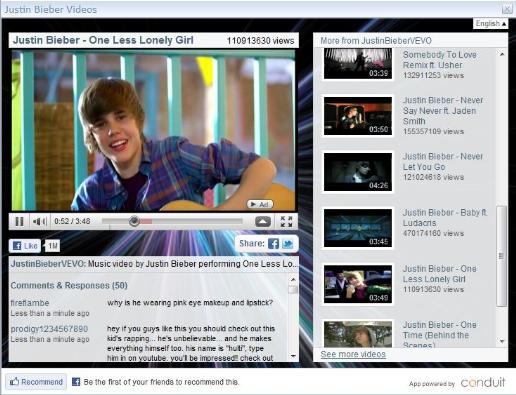 justin bieber youtube channel. Justin Bieber YouTube Channel
