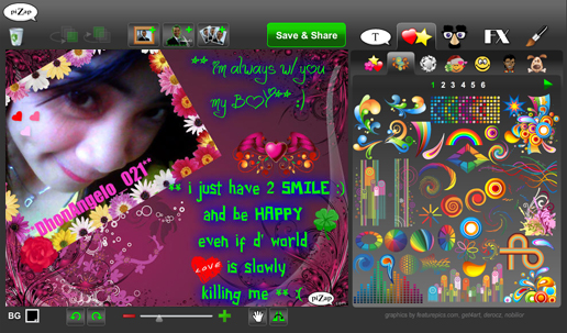 Online apps pizap screenshots reheart